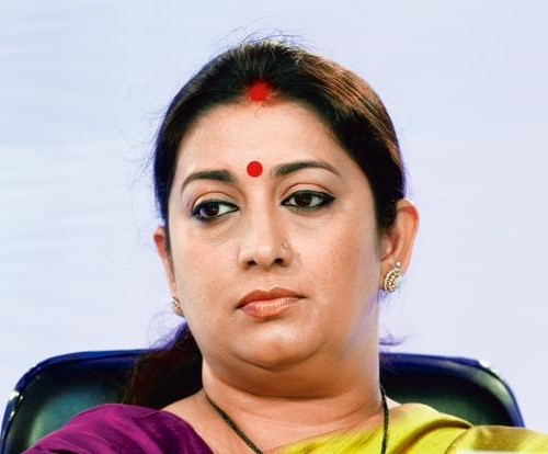 Smriti Zubin Irani is an Indian politician and former model, television actress and producer. She is the current Minister of Human Resource Development in the Government of India.